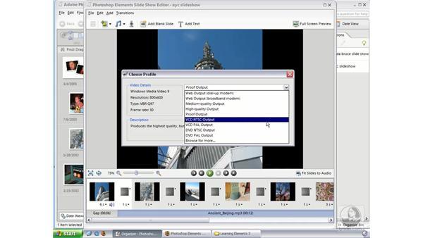Saving Custom Slideshows (Win): Photoshop Elements 3 Essential Training