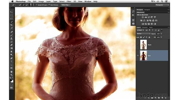 Selecting and removing the subject from the background: Portrait Project: Changing a Background for Dramatic Effect