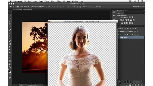 Using masking to combine images together: Portrait Project: Changing a Background for Dramatic Effect