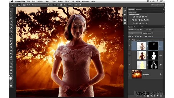 Improving the brightness: Portrait Project: Changing a Background for Dramatic Effect