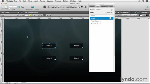 Exploring control over object styles: FileMaker 13 New Features