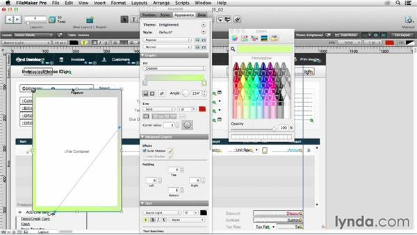 Changing popover appearance: FileMaker 13 New Features