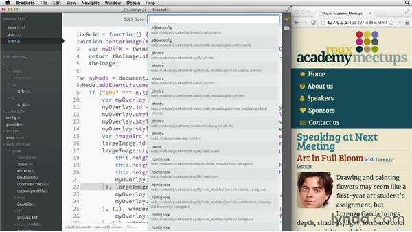 Navigating and using Quick Open: Adobe Edge Code and Brackets: First Look