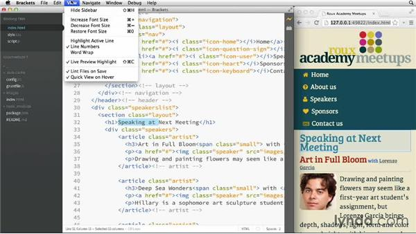 Using Live Preview: Adobe Edge Code and Brackets: First Look