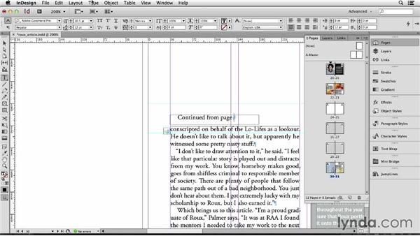 127 Making automatic jump lines: InDesign Secrets