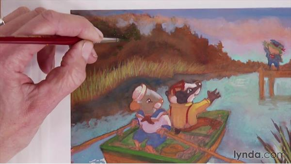 Creating a background to guide the viewer's eye: Artist at Work: Textures