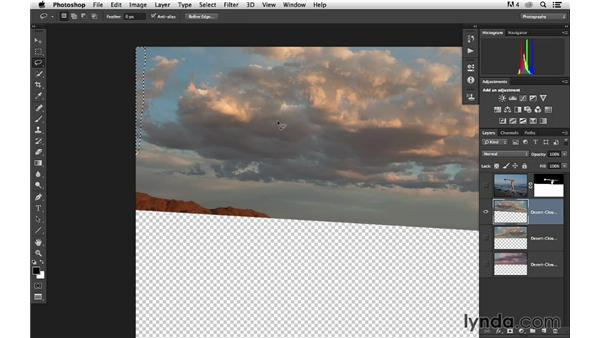 Transforming and flipping the clouds: Portrait Project: Changing a Sky Background