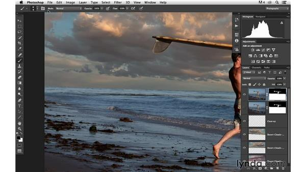 Correcting the horizon line: Portrait Project: Changing a Sky Background