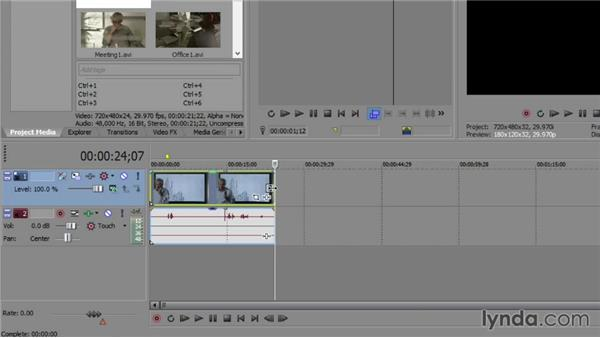 Adding media to the timeline and trimming and slicing: Sony Vegas Production Workflow