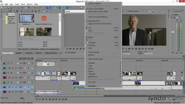 Transferring a Vegas audio track to Sound Forge: Sony Vegas Production Workflow