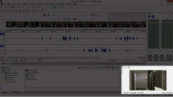 The Sound Forge interface and window layouts: Sony Vegas Production Workflow