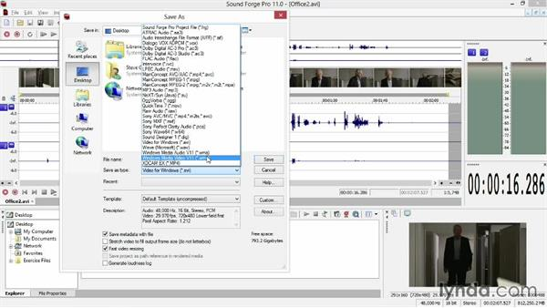 Transferring your finished audio from Sound Forge back to Vegas: Sony Vegas Production Workflow