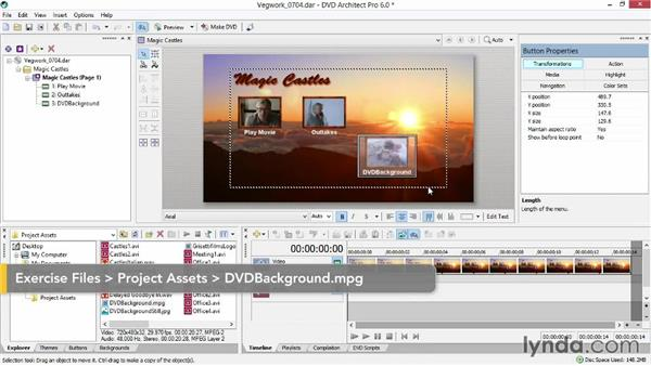 Working with menu text: Sony Vegas Production Workflow