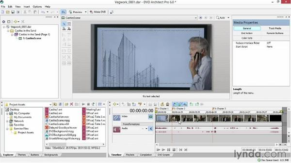 Adding video to the timeline and creating a button: Sony Vegas Production Workflow
