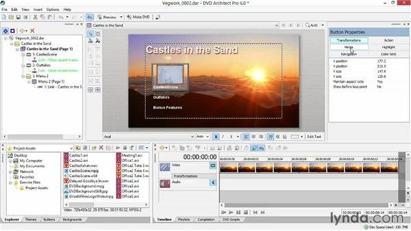 Customizing a button's look and animation: Sony Vegas Production Workflow