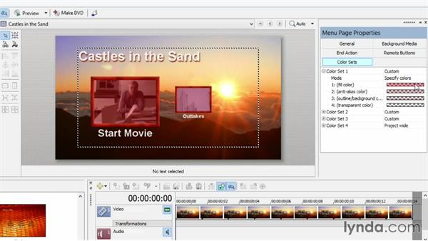 Using color sets and overlays to highlight your disc animation: Sony Vegas Production Workflow