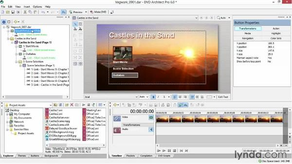 Adding a media clip or logo before the menu: Sony Vegas Production Workflow