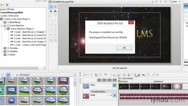 Saving your output as a prepared file and burning with third-party software: Sony Vegas Production Workflow