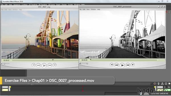 Importing footage: Entertainment Creation Suite: Getting Started with MatchMover
