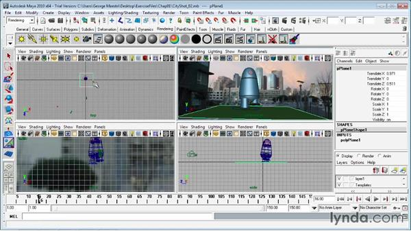 Basic rendering of MatchMover scenes: Entertainment Creation Suite: Getting Started with MatchMover