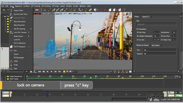 Solving for the camera: Entertainment Creation Suite: Getting Started with MatchMover
