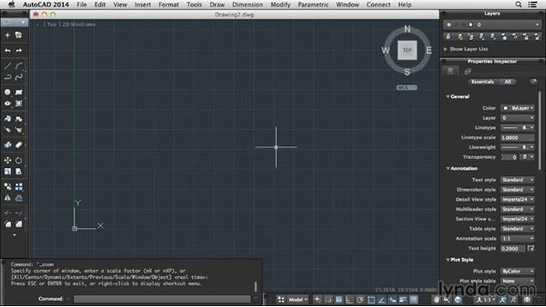 Zooming and panning: Up and Running with AutoCAD for Mac