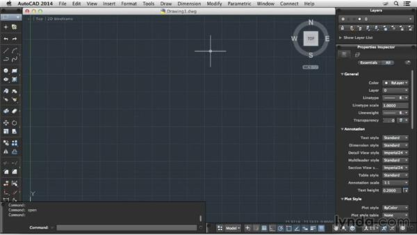 Opening files: Up and Running with AutoCAD for Mac