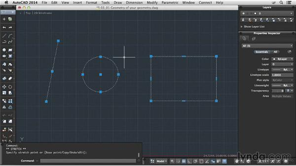 The geometry of your geometry: Up and Running with AutoCAD for Mac