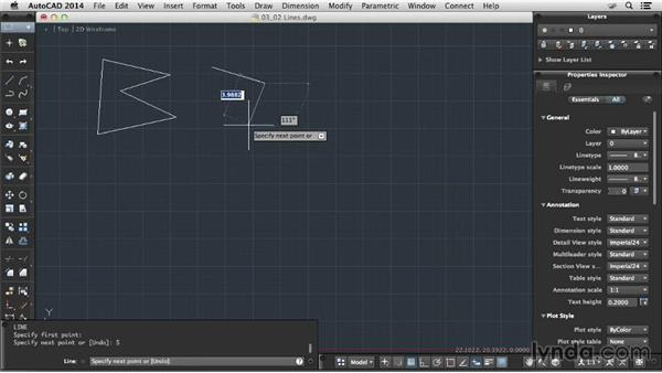 Using lines: Up and Running with AutoCAD for Mac
