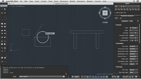 Modifying objects: Up and Running with AutoCAD for Mac