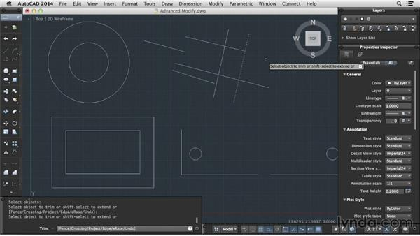 Advanced modify tools: Up and Running with AutoCAD for Mac