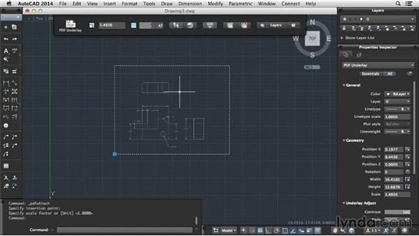 Working with underlays: Up and Running with AutoCAD for Mac