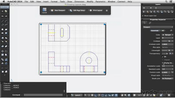 Creating layouts: Up and Running with AutoCAD for Mac