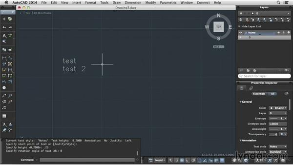 Formatting text: Up and Running with AutoCAD for Mac