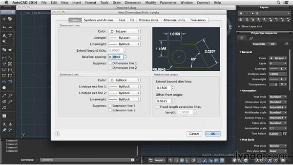 Dimensioning your drawing: Up and Running with AutoCAD for Mac