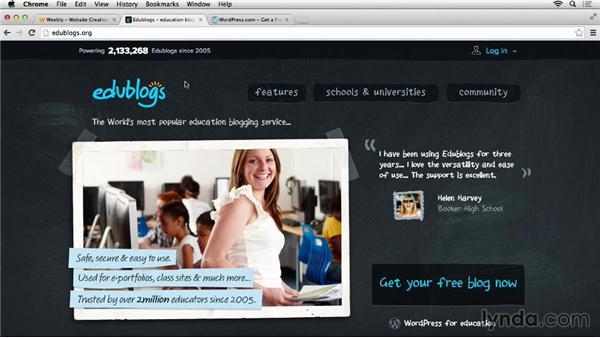 Selecting a website platform: Teacher Tips
