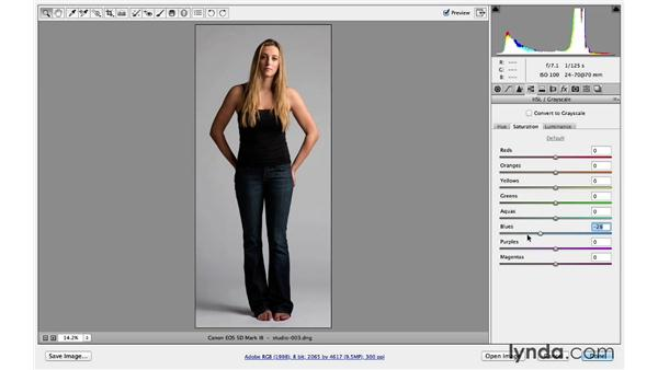 Using Camera Raw to crop and improve details: Portrait Project: Changing a Studio Background