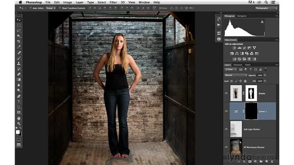 Adjusting the color and tone of the background: Portrait Project: Changing a Studio Background