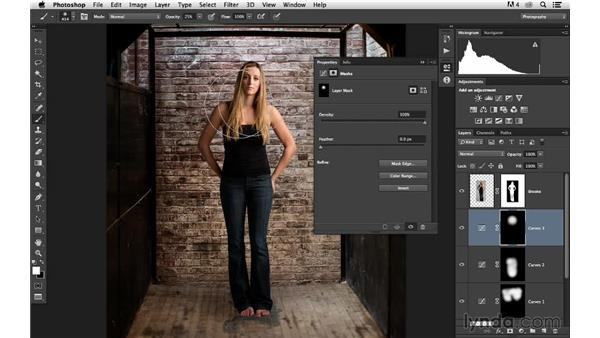 Modifying the color and tone: Portrait Project: Changing a Studio Background