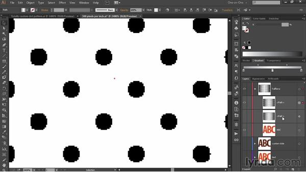 Converting jagged raster dots to smooth vectors: Designing Gradient Dot Patterns with Illustrator
