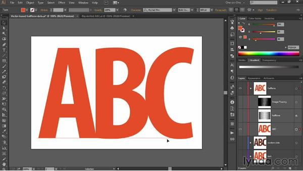 Pasting a dot pattern into editable text: Designing Gradient Dot Patterns with Illustrator