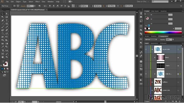 A stylistic alternative to dot-pattern text: Designing Gradient Dot Patterns with Illustrator