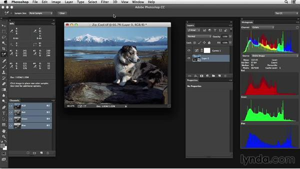 Starting with the right Photoshop workspace: Photoshop Color Correction: Advanced