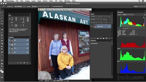 Working with color sampler points efficiently: Photoshop Color Correction: Advanced
