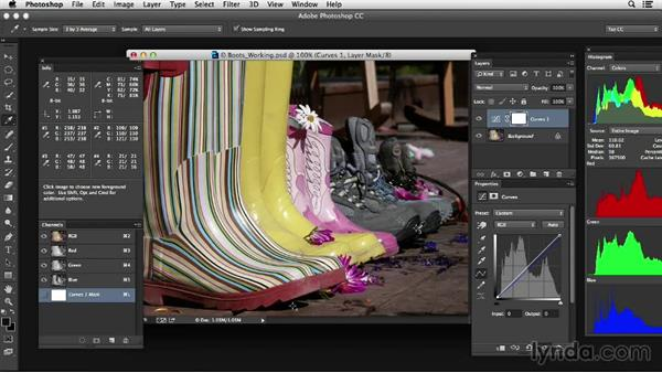 Avoiding color sampling in cast shadows: Photoshop Color Correction: Advanced
