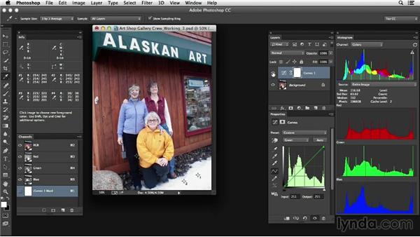 Adjusting the tone and color of a complex image: Photoshop Color Correction: Advanced