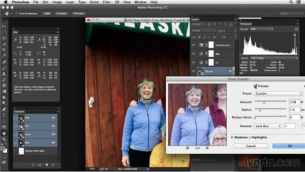 Sharpening a corrected image in Photoshop: Photoshop Color Correction: Advanced