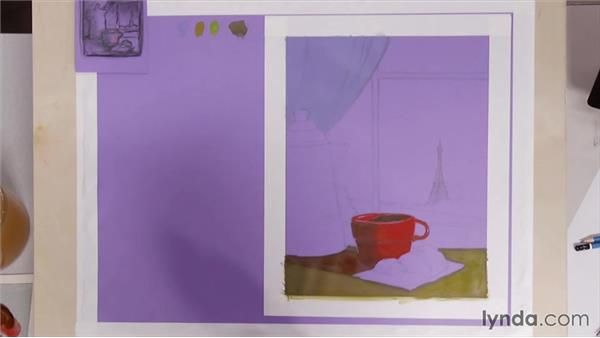 Relating the foreground color to the focal point: Artist at Work: Creating Depth of Field