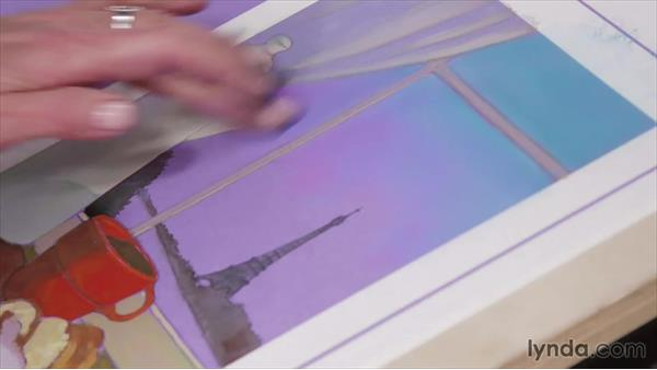 Using mixed media to achieve a gradient sky: Artist at Work: Creating Depth of Field
