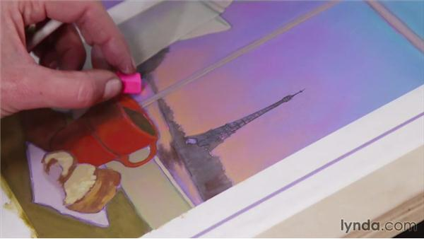 Creating reflections in water: Artist at Work: Creating Depth of Field